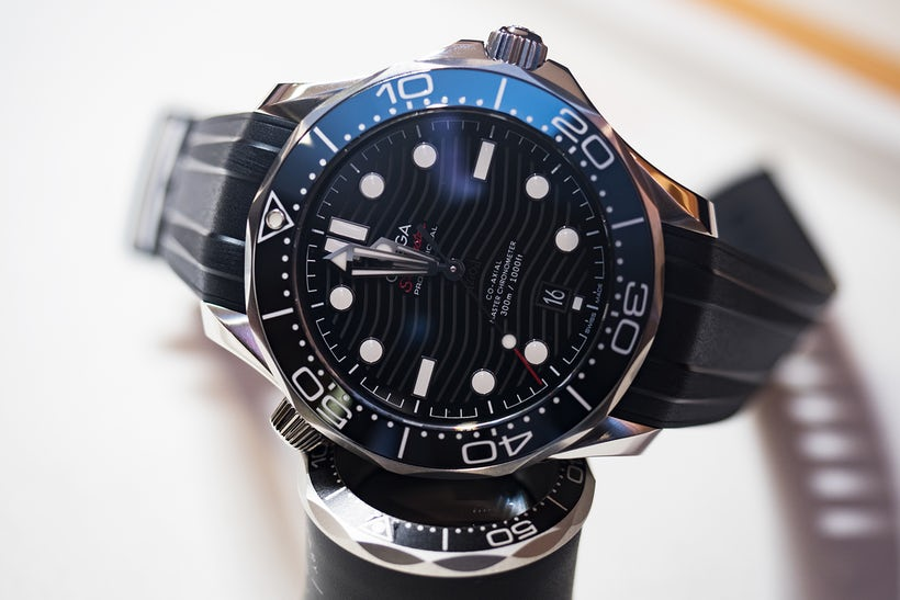 adbce505e4dd The new fake Omega Seamaster 300M now includes a new version of the ceramic  rings and the ceramic dial